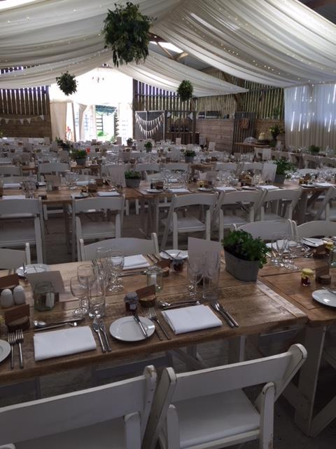 Marquee wedding catering Cornwall